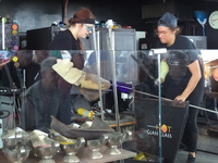 The Hot Glass girls doing their