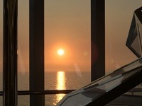 Sunset view from champagne bar