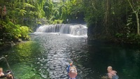 Raru waterfall Vila. Beautiful fresh water falls...