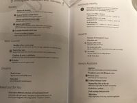 MSC Seaview - Dining Room Menu for one night - themes and dishes change reg