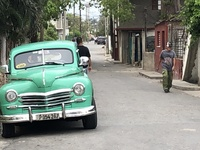 Classic car (late 40s Plymouth) in Havana