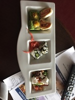 Evening canapés delivered in our concierge room every day