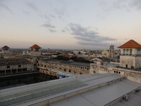 From the ship, at the pier in Havana. Docking is close to city.