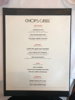 Chops lunch menu - Yes smaller than the main lunch menu but not much differ