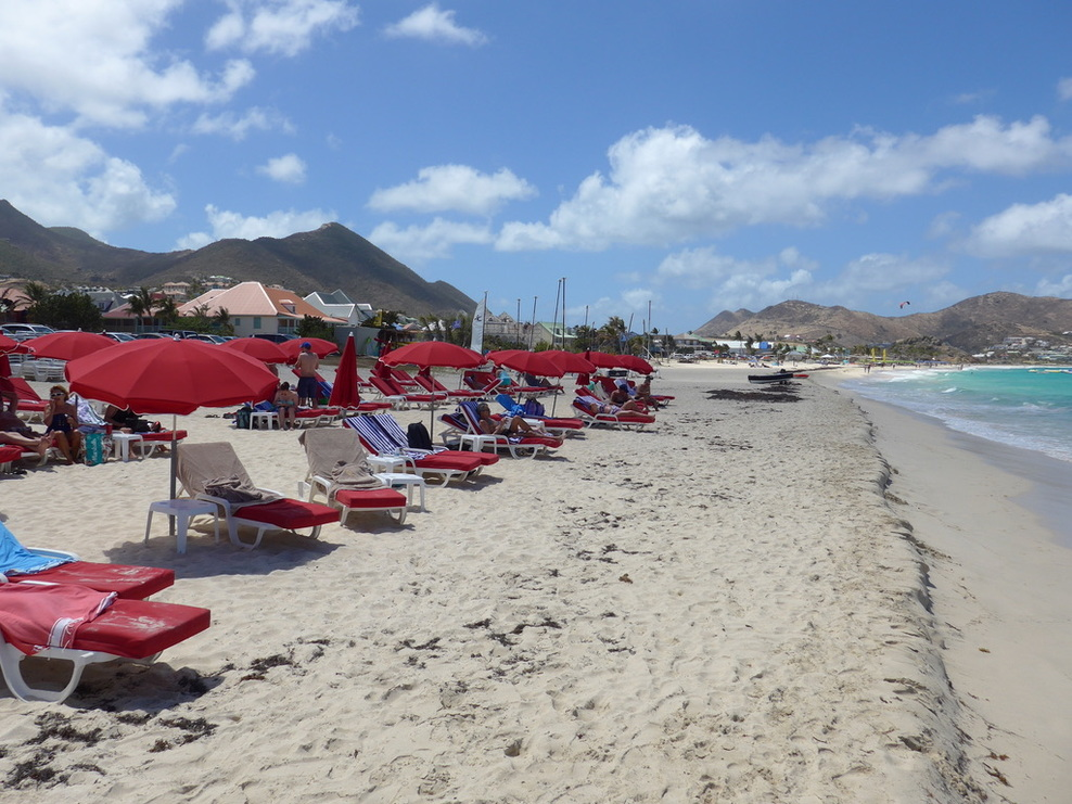 Kon Tiki Bar beach at Orient Beach on St. Martin