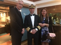 Photo with the Captain in haven courtyard