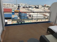 Extended balcony, only one of two like this among PH suites on Deck 7