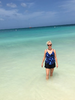 This is beautiful Eagle Beach in Aruba. We walked the entire strand along t