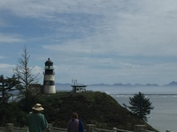 Lighthouse at Cape Disappointment, Washington.