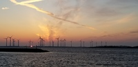 A beautiful sunset and creating green energy at the same time!