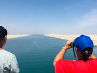 Going through the Suez Canal