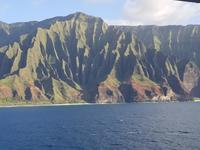 Off the coast of Na-Pali on the last day of the cruise.