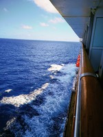 At sea in South Pacific