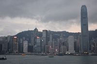Hong Kong Harbor - end of our Silver Muse Journey.