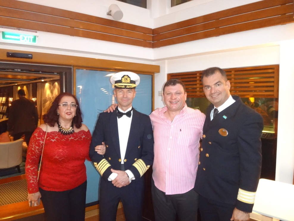 The captain and cruise director