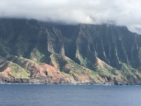The Napali coast on Kauai. This is what you see as you leave Kauai on