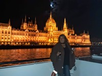 Our illumination cruise in Budapest. they served hunagrian wine and Palinka