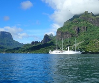 moored at moorea