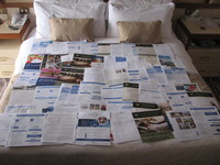 Cruise is not over, multiply all this wasted paper by the number of cabins