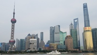 The financial district of Shanghai as seen from the Bund