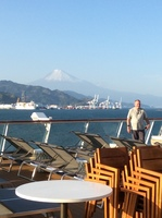 Coming into Shimizu with Mt Fuji in the background.