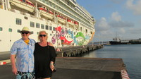 In port at Bonaire standing by our ship the beautiful Norwegian Pearl.