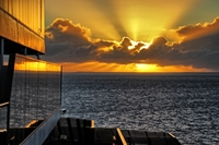 Another sunny sunrise over the South Pacific as Carnival Spirit takes us to