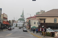 Downtown Sitka with St. Michael's Cathedral