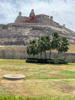 This is the Old Fortress in Cartagena, Columbia. A tough climb to the top w