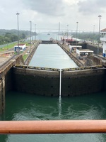 Locks at the Panama Canal.