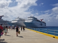 Walking back to ship in Cozumel.