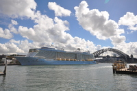 Ovation of the Seas berthed in Sydney