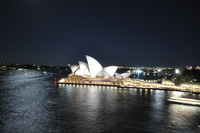 Sydney Opera House from our balcony just before leaving