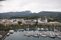 View of Papeete from our balcony