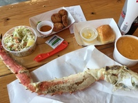 King crab combo, at the Crab shack in Juneau