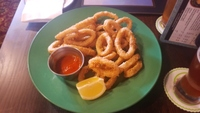 Calamari from the Frog and Onion Pub Royal Naval Dockyard. Very tender!