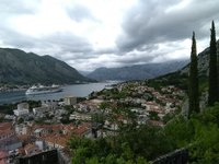 View from the walk up the mountain looking back on Kotor Bay