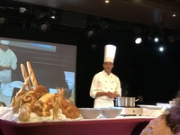 Presentation by the pastry chef.
