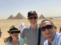 The Pyramids with our fantastic guide Hazem Khalaf!! Thank you for extraord