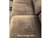 Stained sofa cushion in the Bliss Ultra Lounge