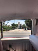 Havana through the window of a 57 Chevy. My sister and her family had