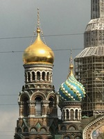 The Church on the Spilled Blood, St Petersburg, imposing despite the renova