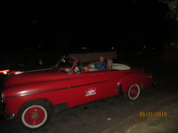 Me and Maryann riding in a 1948 Chevy!