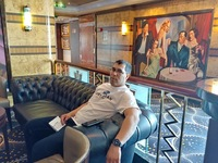 Hanging out in one of the bar lounges on the Norwegian Star.