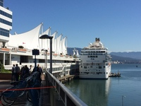 Island Princess in port at Vancouver