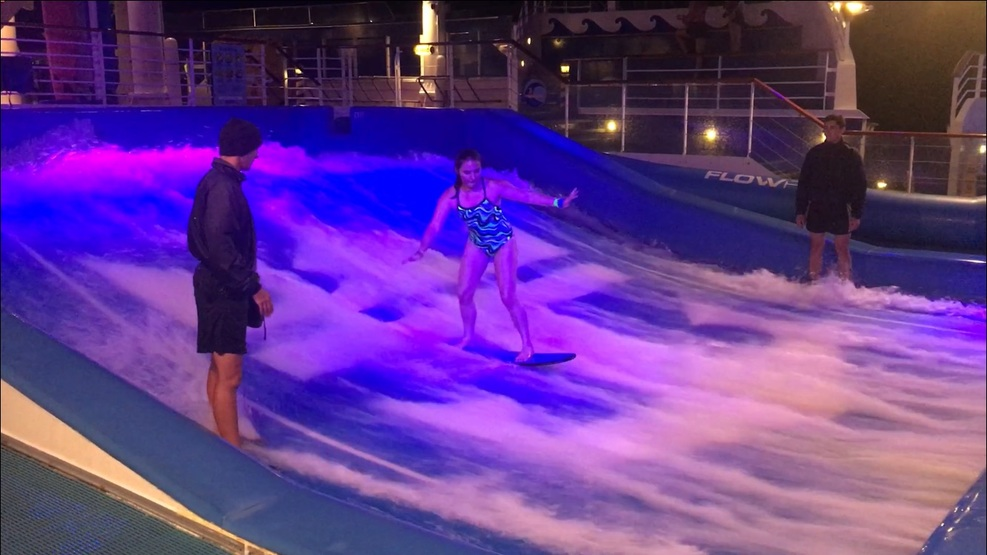 FlowRider surfing simulator on the Liberty of the Seas.