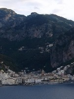 Amalfi as viewed from stateroom balcony