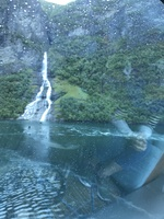 Waterfalls coming out of gerainger fjord