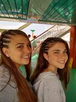 Had two of my Granddaughters Hair Braided in the Spa!