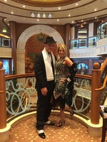 There were two gala costume parties on board, We rocked 20s night!